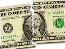 Испорченный доллар США USD